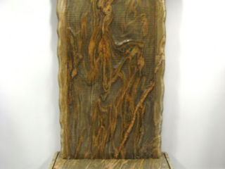 """""""Fluidity 2007 Commissioned Granite Waterwall, People's Bank, Albuquerque, NM 7' 4"""" tall"""""""