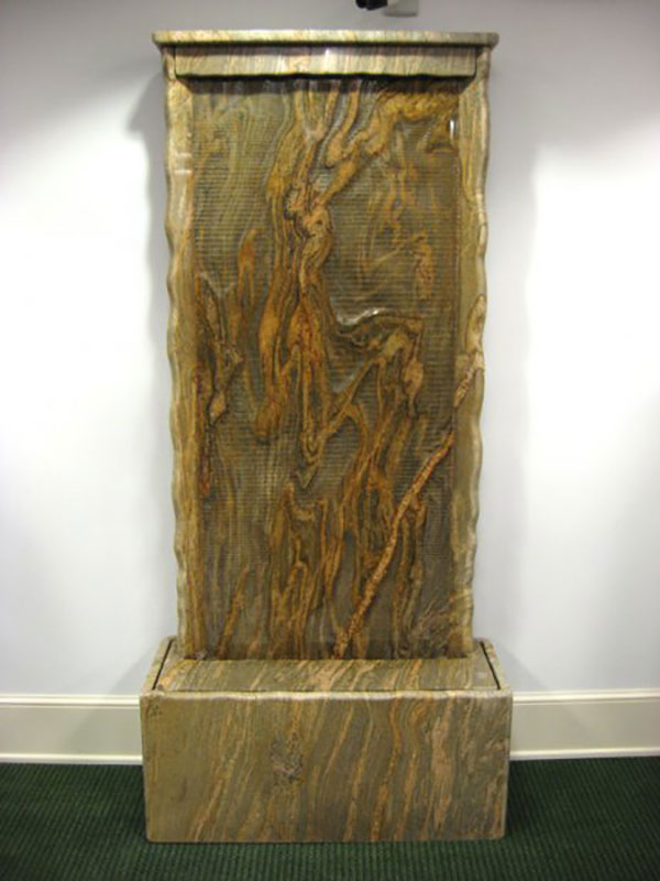 """Fluidity 2007 Commissioned Granite Waterwall, People's Bank, Albuquerque, NM 7' 4"" tall"""