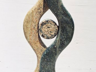"""Around One 2006 Green, brown, baltic, black Granite. 16"" x 7"""""