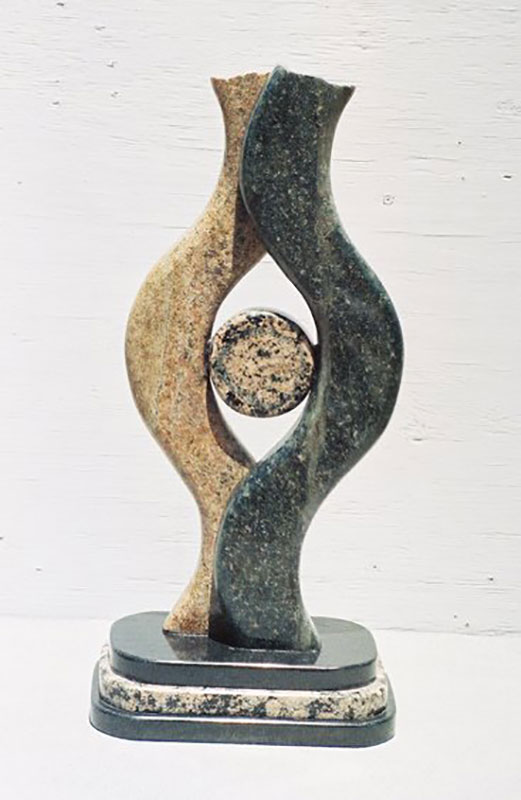 """Around One 2006 Green, brown, baltic, black Granite. 16"" x 7"""""