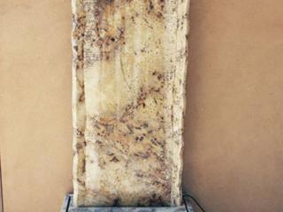 """""""Oasis Golden Wave Granite waterwall. 70"""" x 29"""" x 15"""""""""""
