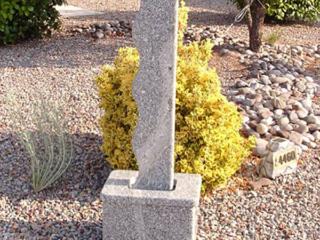 """""""Waterski Blanco Granite two sided fountain. 45"""" x 16"""" x 11"""""""""""