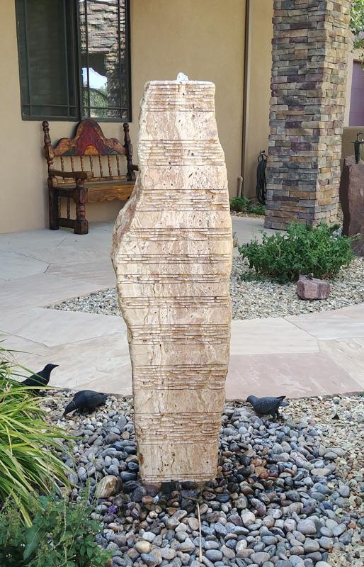 Sculpture fountain travertine stone