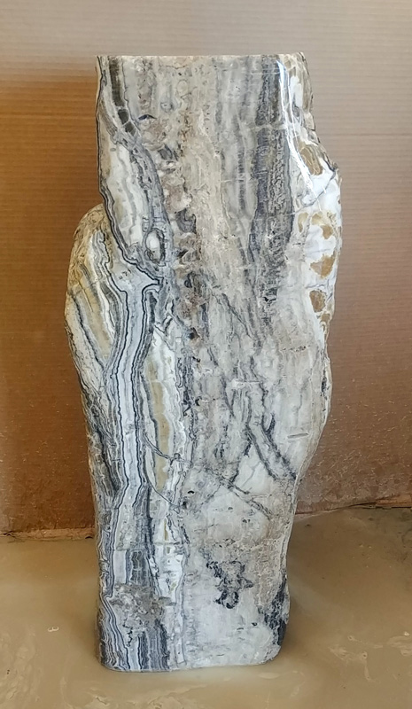 fountain water feature stone onyx rock sculpture fine art santa fe artist commission installation landscaping landscape design New Mexico Texas Arizona Colorado Southwest Shipped waterfall
