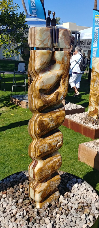 fountain water feature stone onyx rock sculpture fine art santa fe artist