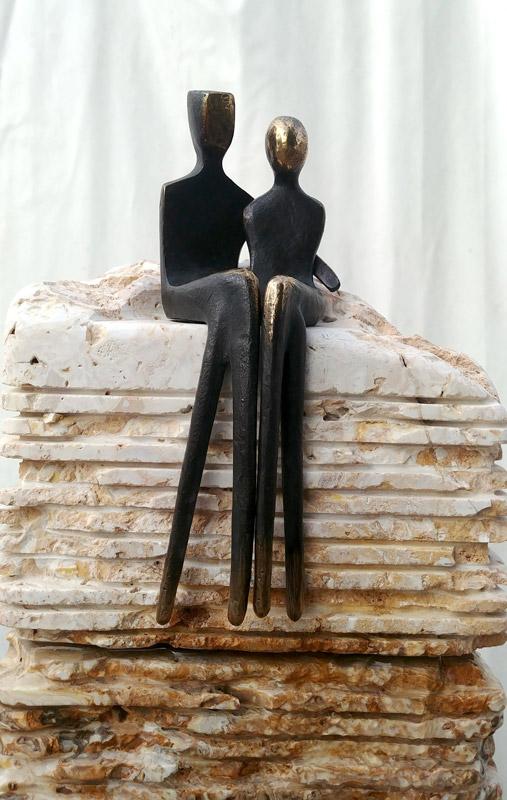 yenny cocq bronze fountain stone sculpture