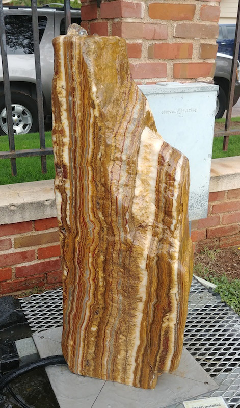 red canyon onyx stone fountain
